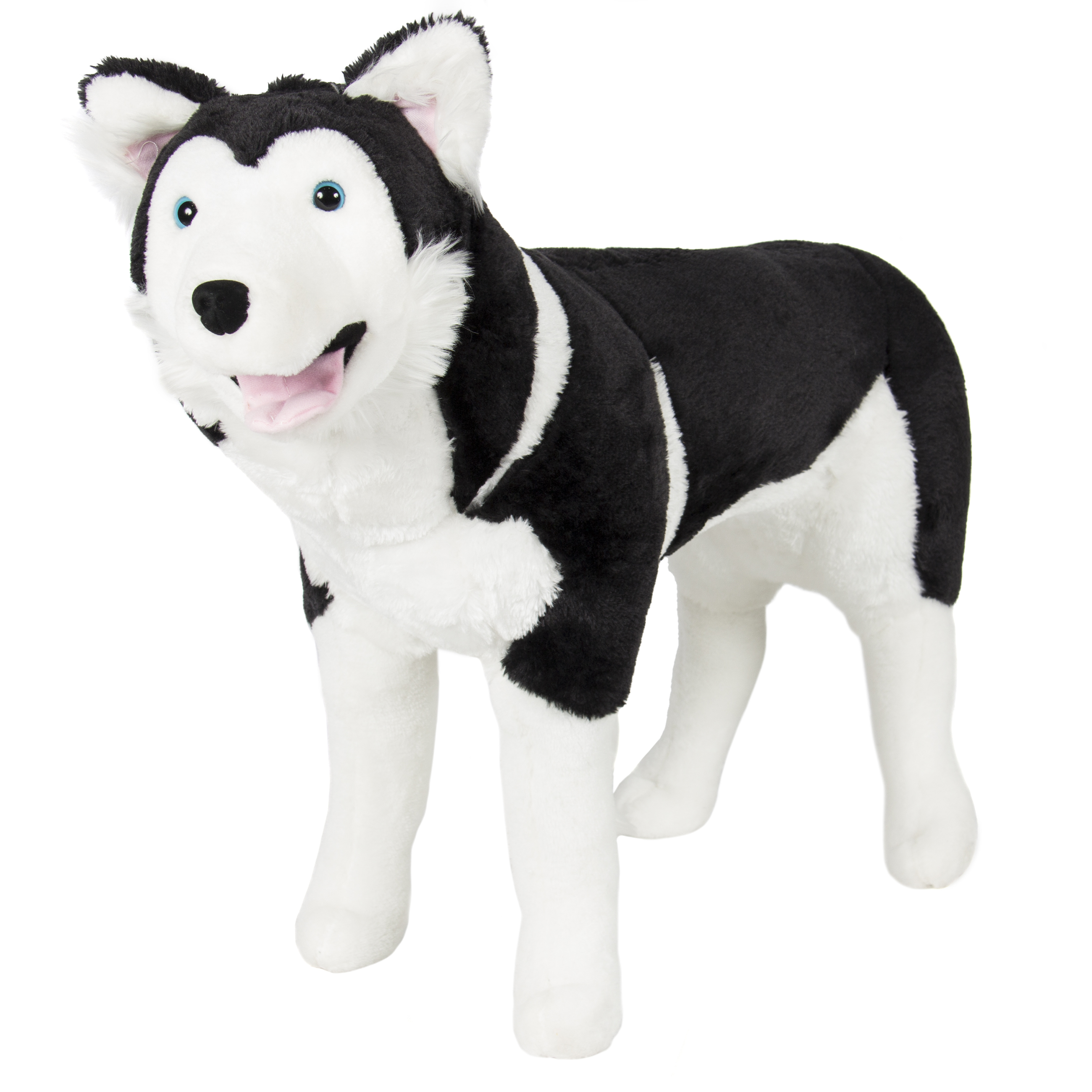 Best Choice Products Large Soft Plush Realistic Stuffed Animal Husky Dog Wolf Toy Pillow Pet - Black/White