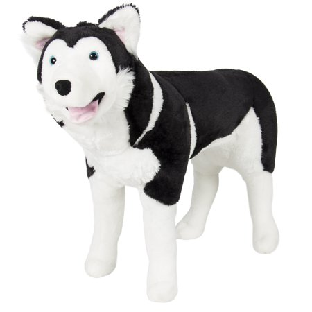 Best Choice Products Large Soft Plush Realistic Stuffed Animal Husky Dog Wolf Toy Pillow Pet -