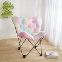 Heritage Club Rainbow Fur Butterfly Chair