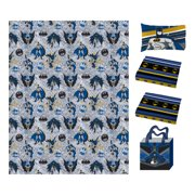 Batman Gotham Blues Bed in a Bag with Mini Cuddle Pillow and Tote