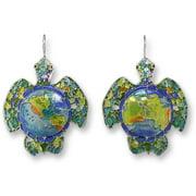 Zarah 16-01-Z1 Earth Turtle Silver Plate Earrings
