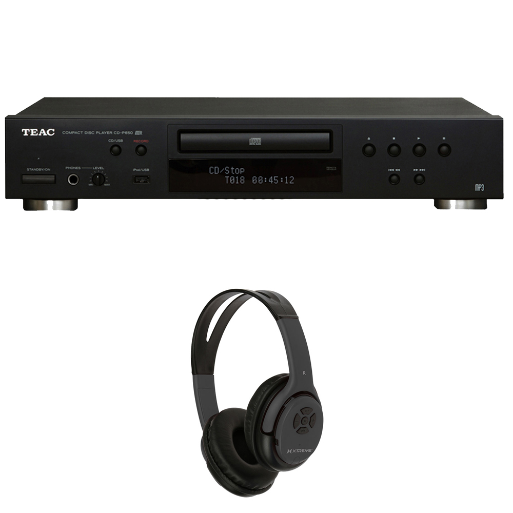 teac cd p650 b cd player with usb and ipod digital interface black w xtreme over the ear. Black Bedroom Furniture Sets. Home Design Ideas