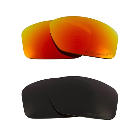 Sideways Replacement Lenses Black & Ruby Red by SEEK fits OAKLEY (Sideways Sunglasses)