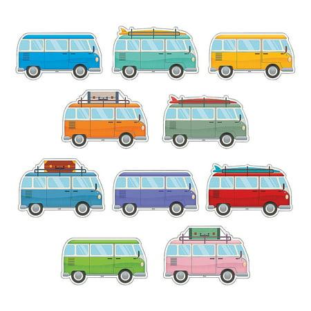 Fun Express - Classic Vans Bb Accents - Educational - Classroom Decorations - Bulletin Board Decor - 30 Pieces