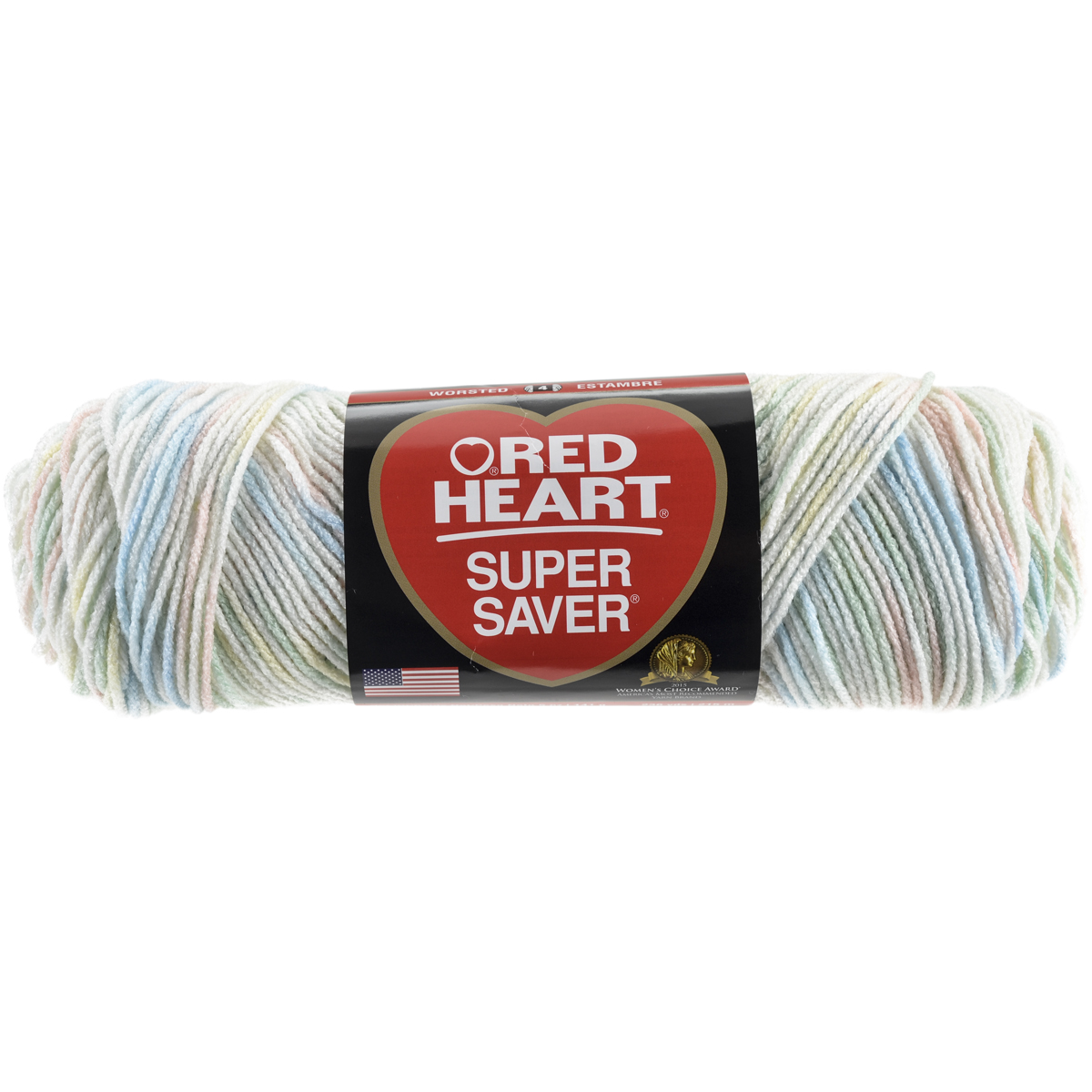 New Red Heart Yarn Baby Print