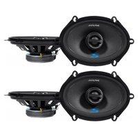 """(4) ALPINE S-S57 230 Watt 5x7"""" Car Audio Coaxial 2-Way Speakers"""