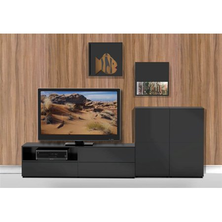 4-Pc Eco-Friendly Entertainment Set in Black