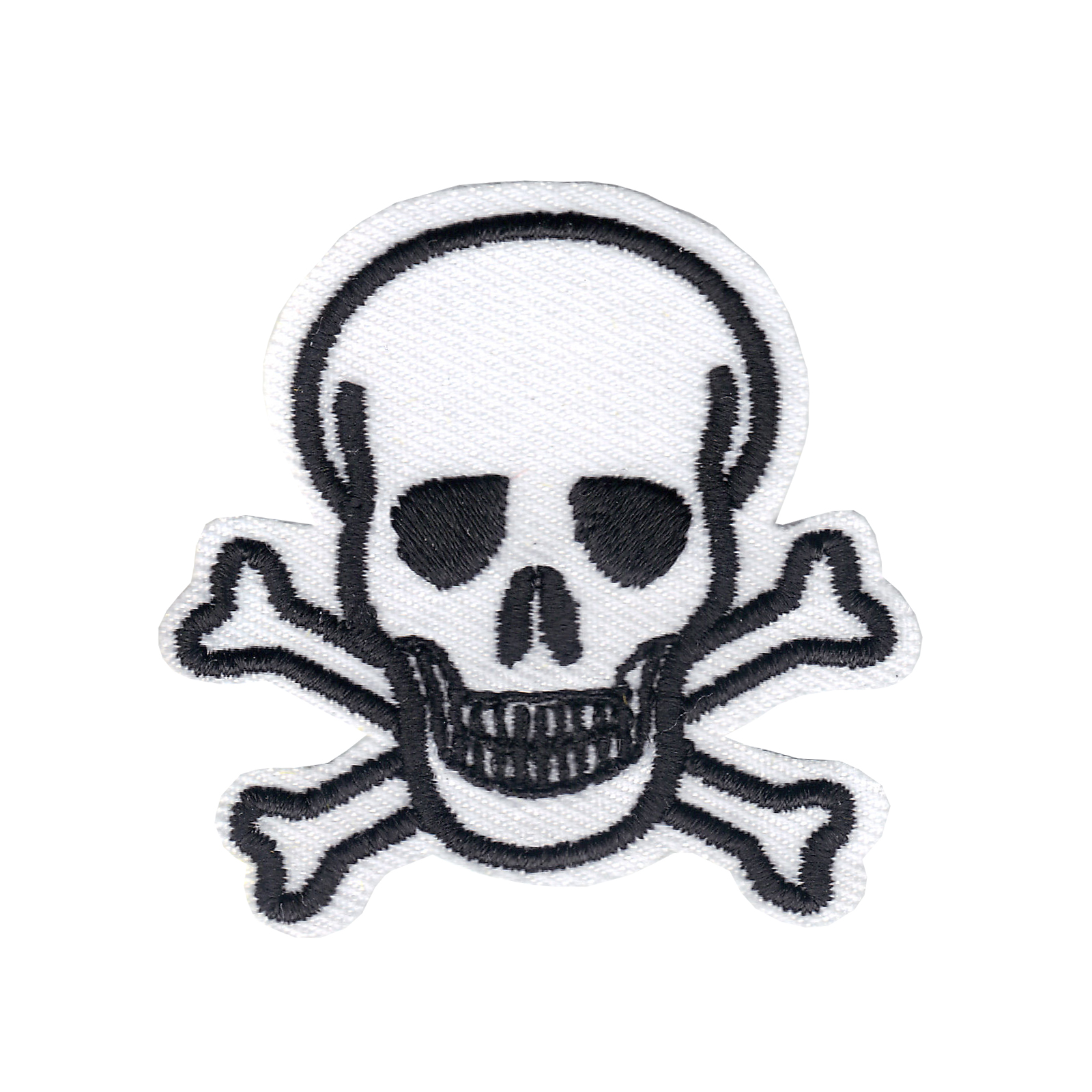 Skull and Crossbones Iron On Applique Patch