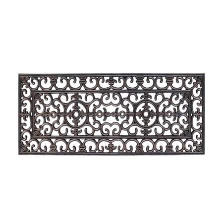 Rubber Grill Beautifully Hand Finished Elegant Large Double Doormat - 17.7