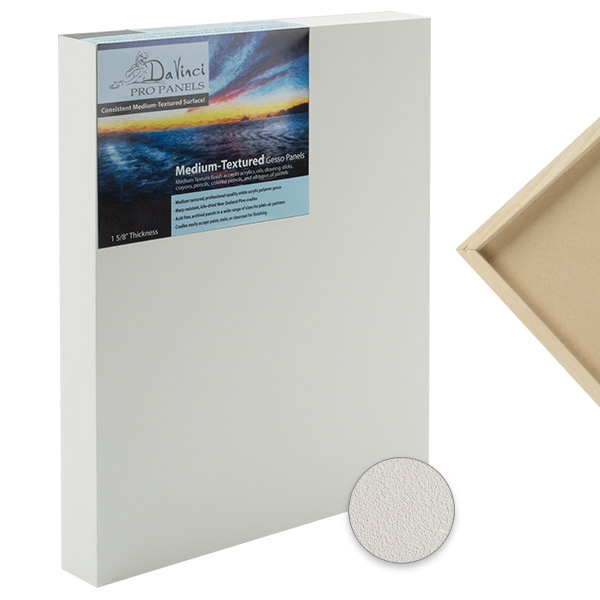 Da Vinci Pro Painting Panels Gesso Smooth, Textured, Coarse Grip, or Birch Wood