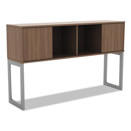Image of Alera Alera Open Office Desk Series Hutch, 60w x 15d x 36 1/2h, Modern Walnut
