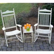 Dixie Seating 3 pc. Spindle Rocking Chair Set with Side Table - Unfinished