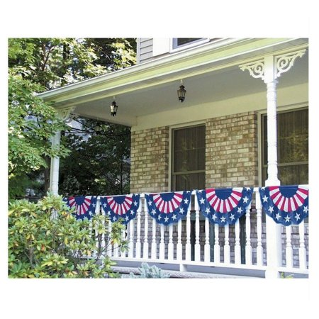Plastic American Flag Bunting Garland Decoration (11 ft long) - 226000
