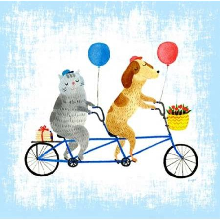 Bikes and Best Friends Poster Print by Lings