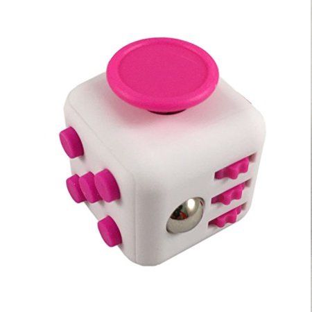 BOGO FREE Fidget Cube FC 9 White And Pink Color Anxiety Stress
