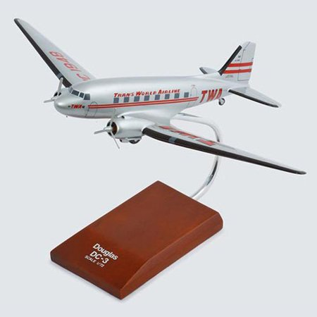 Daron Worldwide McDonnell Douglas DC-3 TWA Model Airplane