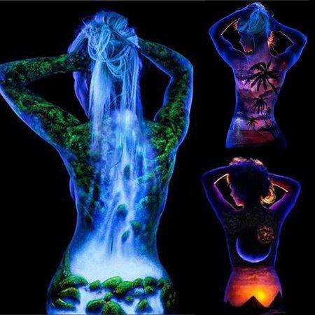Hifashion Face Fluorescent  UV Glow Neon Body Paint Pigment 20ml Super Bright HFON