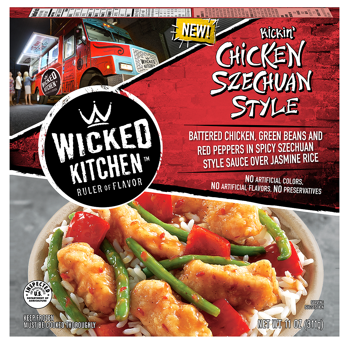 Wicked Kitchen Kickin Chicken Szechuan Style, 11 oz
