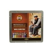 Mondeluz Aquarell Pencil Set, 24 Piece, Assorted Colors in a Tin