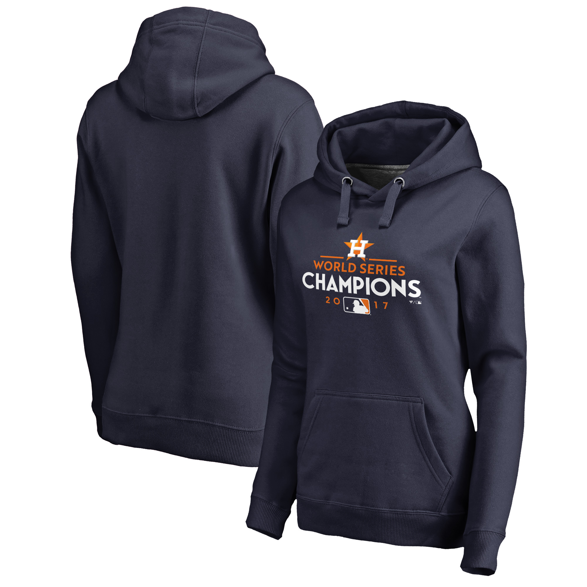 Houston Astros Fanatics Branded Women's 2017 World Series Champions Pullover Hoodie - Navy