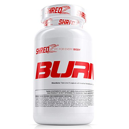 SHREDZ Fat Burner Supplement Pill for Men, Lose Weight, Increase Energy, Boost Metabolism, Best Way to Shed Pounds - 60 Capsules (30 Day (Best Height Increase Supplement)