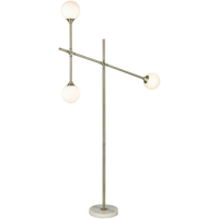 Floor Lamps 3 Light With Aged Brass and Frosted White Metal Glass E12 59 inch 75 Watts