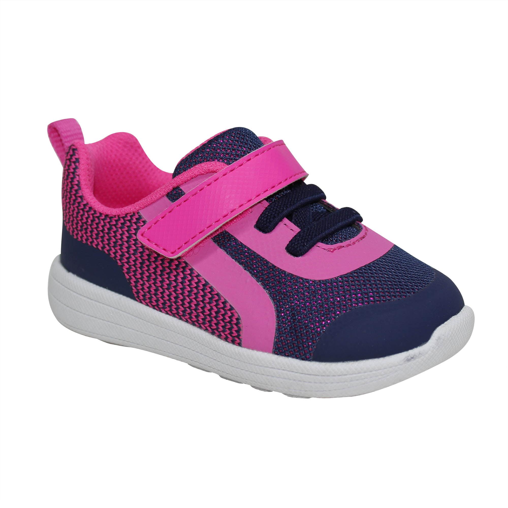 dd74754ab21a1d Garanimals Girl s Pre-Walk Lightweight Athletic Shoe – Walmart ...