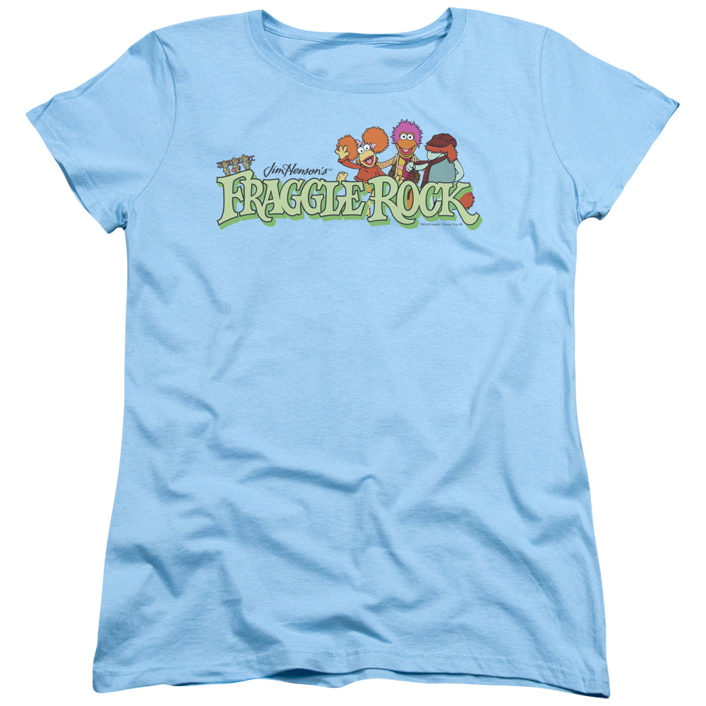 Fraggle Rock Leaf Logo Womens Short Sleeve Shirt