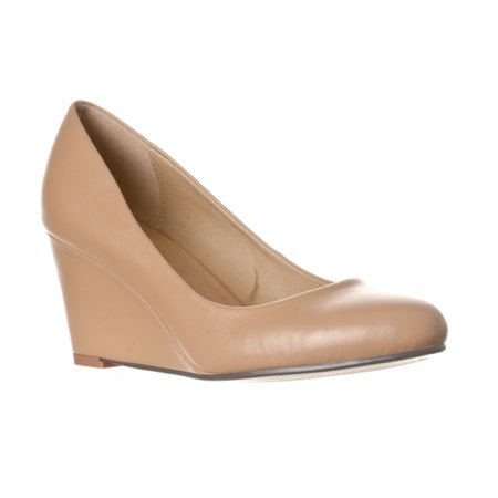 Mid Wedge (Riverberry Women's Leah Mid Heel Round Toe Wedge Pumps )