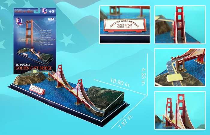 Golden Gate Bridge 3D Puzzle by DARON