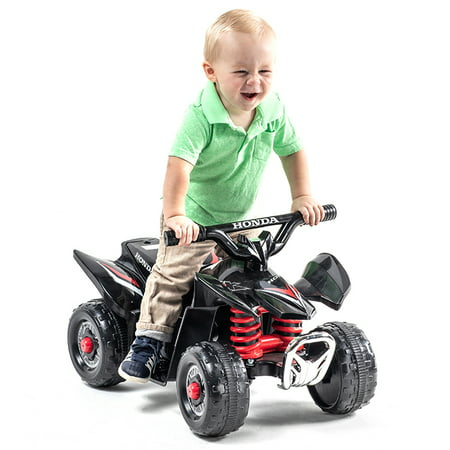 6 Volt Black Honda TRX Battery Powered Ride On ATV