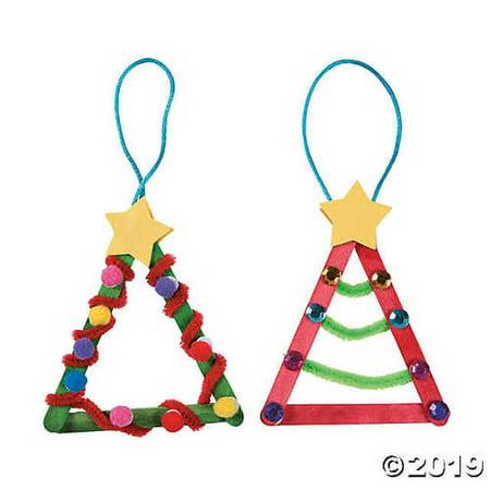 Craft Stick Christmas Tree Ornament Craft Kit](Popsicle Stick Ornaments)