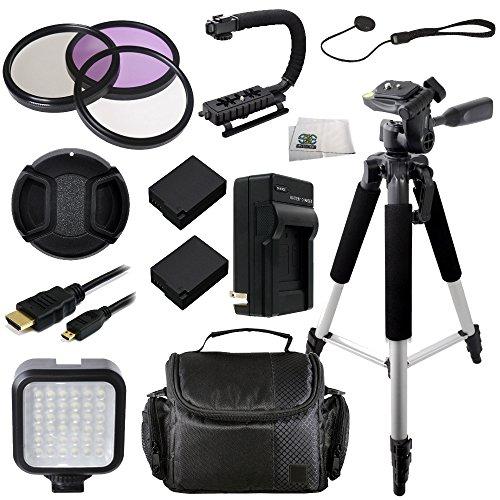 62MM 14PC Accessory Kit for Panasonic Lumix DMC-FZ1000 4K QFHD HD Digital Camera Includes 3 Piece Filter Kit... by SSE