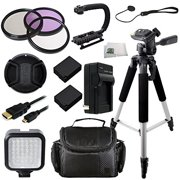 62MM 14PC Accessory Kit for Panasonic Lumix DMC-FZ1000 4K QFHD/HD Digital Camera Includes 3 Piece Filter Kit (UV-CPL-FLD) + 2 Extended Life Replacement Batteries (DMW-BLC12) + AC/DC Rapid Home & T
