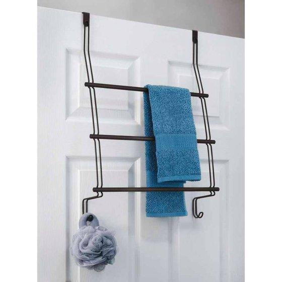 Average Height Of Towel Bar In Bathroom: InterDesign Classico Over Shower Door Towel Rack For