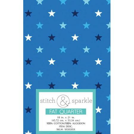 RTC Patriotic fabrics 100% Cotton,Blue Star Small, 140 Gsm, Fat Quarter, 3 pieces - Small Fat