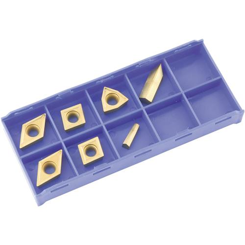 Grizzly T23909 K20 TiN Insert Set (7) for T10295 - Cast Iron