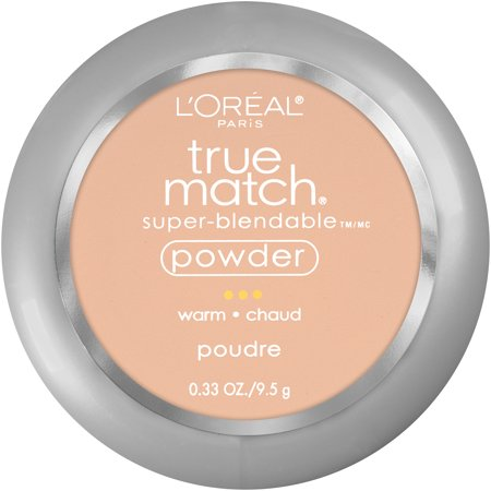 L'Oreal Paris True Match Super-Blendable Oil Free Makeup Powder, Nude Beige, 0.33 oz.