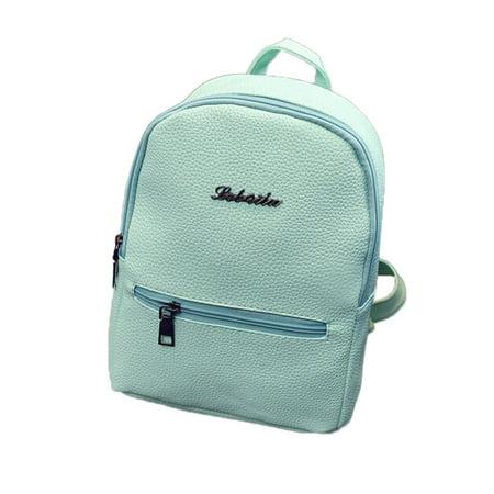 9676a5bbc14 Outtop Girls Leather School Bag Travel Backpack Satchel Women Shoulder  Rucksack
