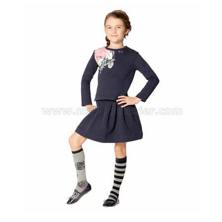Deux par Deux Girls' Quilted Skirt Rose Ballad, Sizes 7-12 - 10 - image 1 de 2