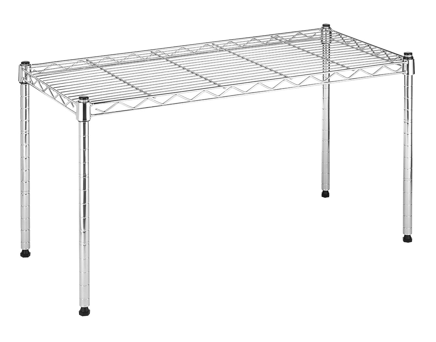 6054-585 Commercial-Grade Steel Supreme Wide Stacking Shelf, 14 x 30 x 16-Inch, Chrome SUPREME WIDE STACKING... by