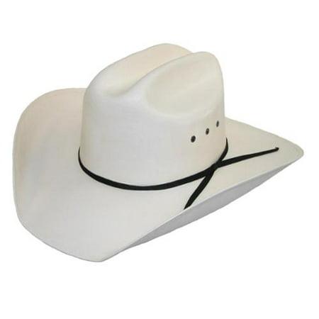 Men's White Canvas Cowboy Western Hat - Neon Cowboy Hat