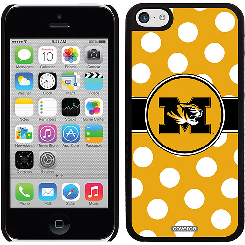 University of Missouri Polka Dots Design on iPhone 5c Thinshield Snap-On Case by Coveroo