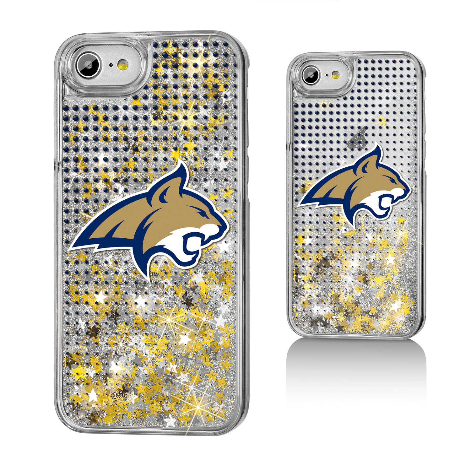 MSU Montana State Bobcats Dots Glitter Case for iPhone 8 / 7 / 6