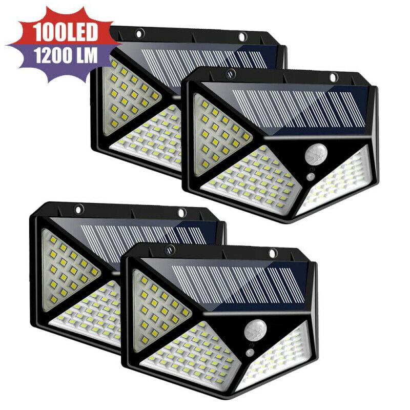 100 LED Solar Wall Light Motion Sensor Outdoor Waterproof Garden 2 pack = 13.77$