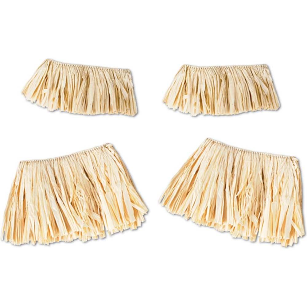 Natural Raffia Grass Hula Arm & Leg Ties