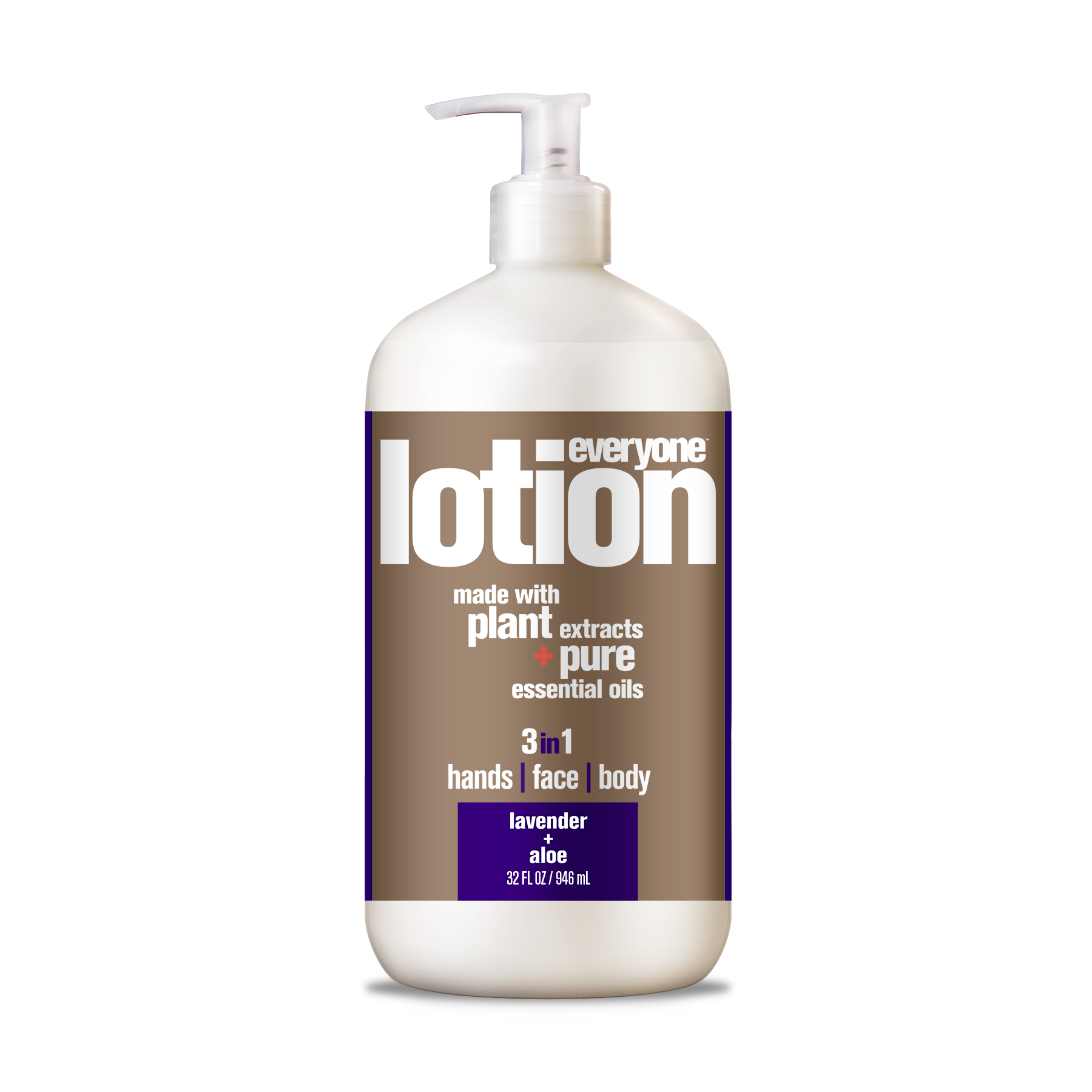 Everyone™ 3-in-1 Lotion, Lavender & Aloe, Hands, Face, Body, 32 oz.