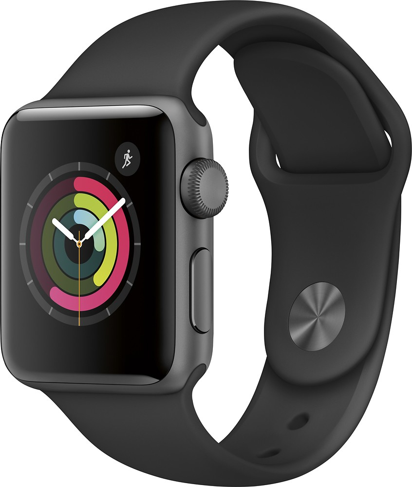 Apple Watch Series 2 38mm (Space Gray Aluminum Case, Black Sport Band) MP0D2LL A by Apple