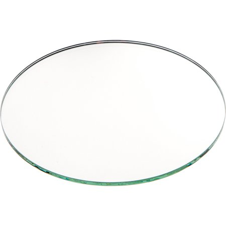 Plymor Round 3mm Non-Beveled Glass Mirror, 5 inch x 5