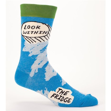 Men's Crew Socks - Blue Q - Look Within Fridge SW823